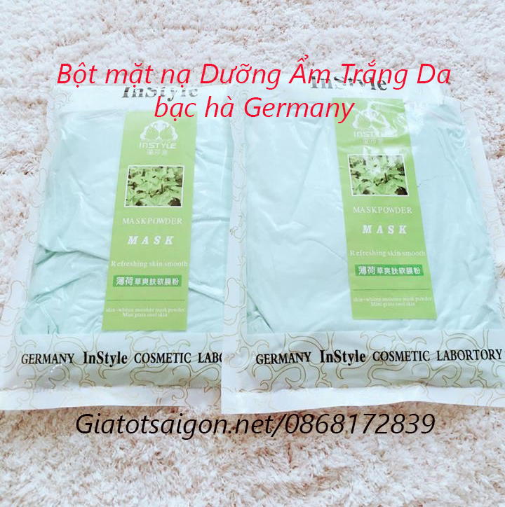 Bột mặt nạ Dưỡng Ẩm Trắng Da bạc hà Germany