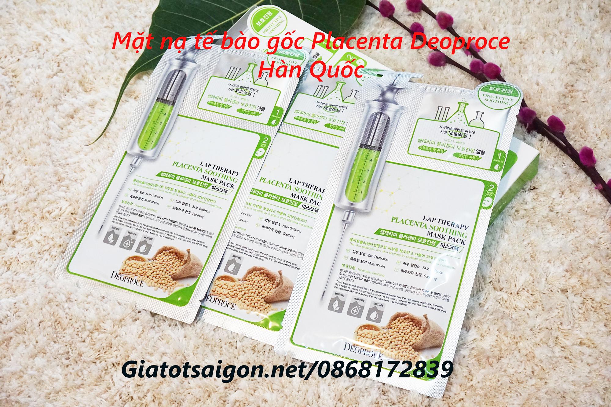 Mặt nạ Placenta tế bào gốc Deoproce Hàn Quốc
