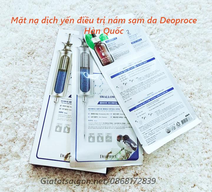 Mặt nạ dịch yến điều trị nám sạm da Deoproce Hàn Quốc
