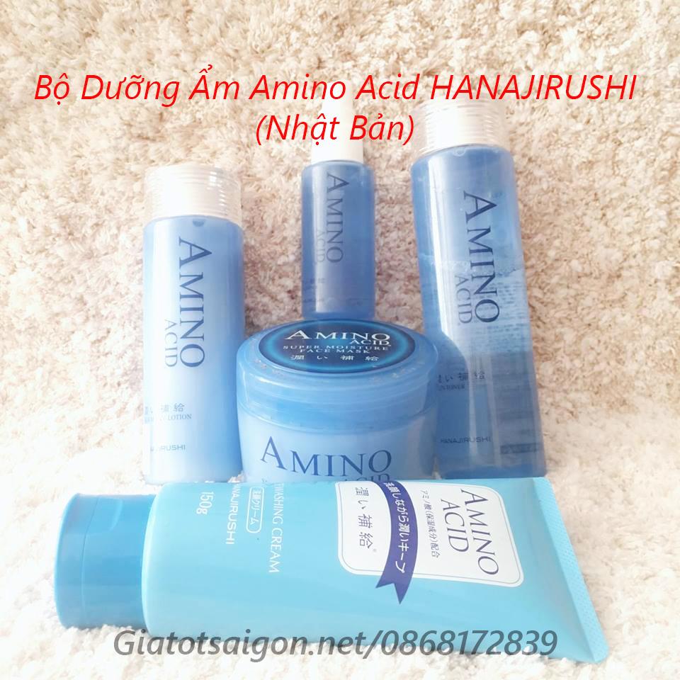 Bộ mỹ phẩm dưỡng Ẩm Amino Acid HANAJIRUSHI(Nhật Bản)