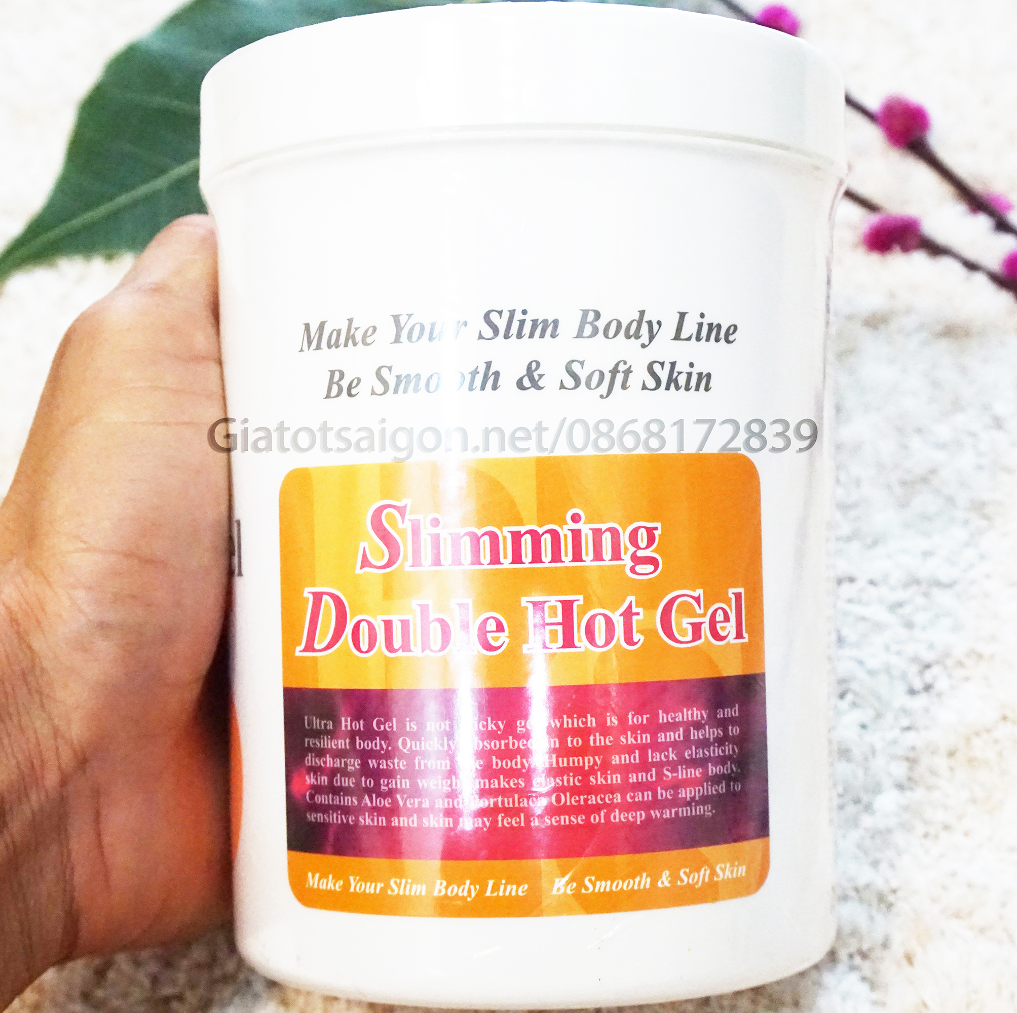 Gel nóng giảm béo Slimming Double Hot Gel.