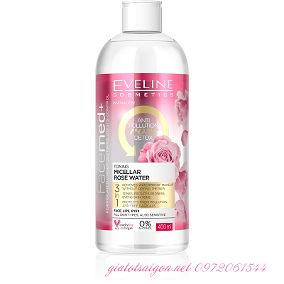 Nước tẩy trang tinh chất hoa hồng Facemed+ Eveline
