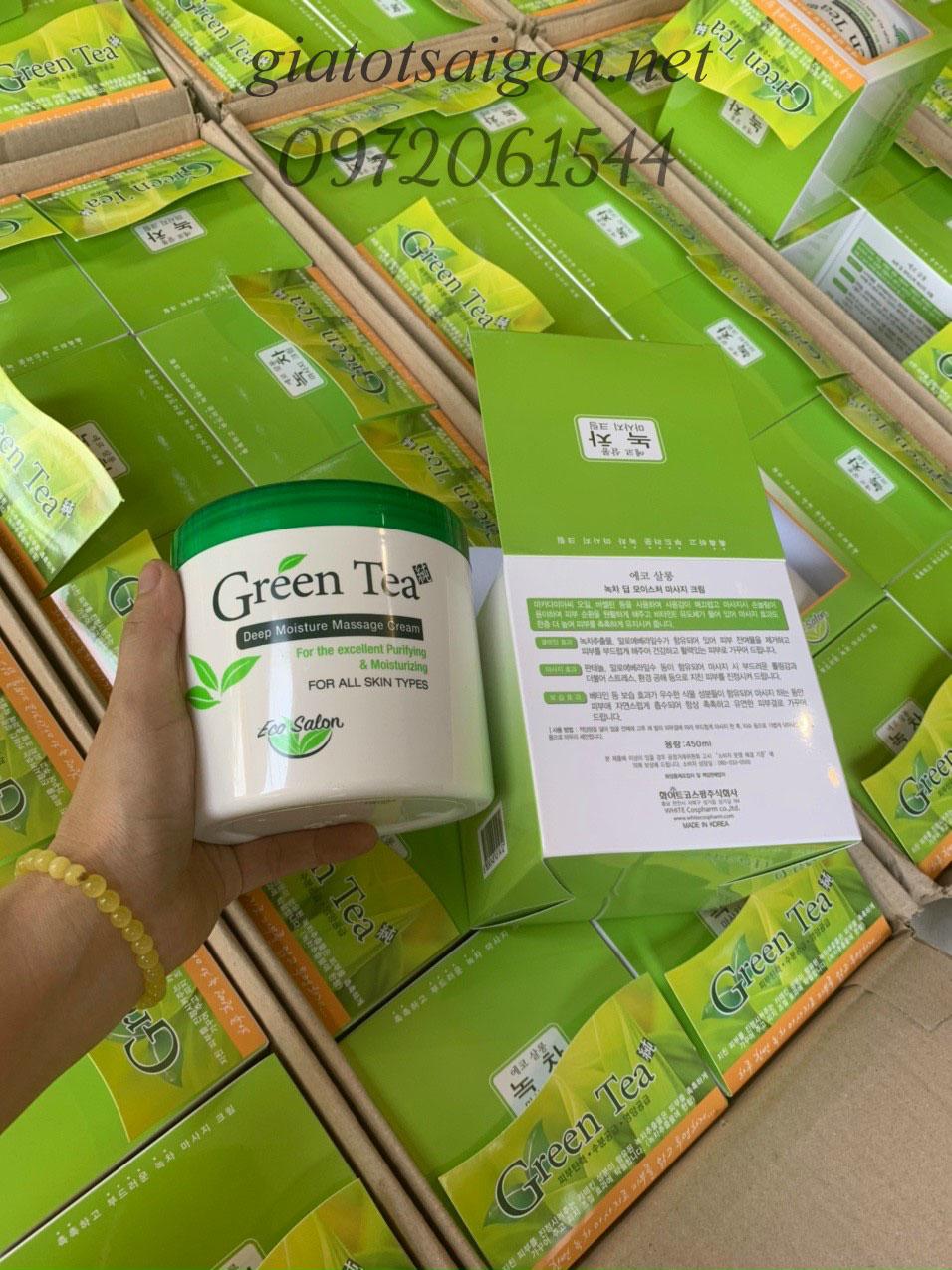 Kem Massage Trà Xanh Green Tea