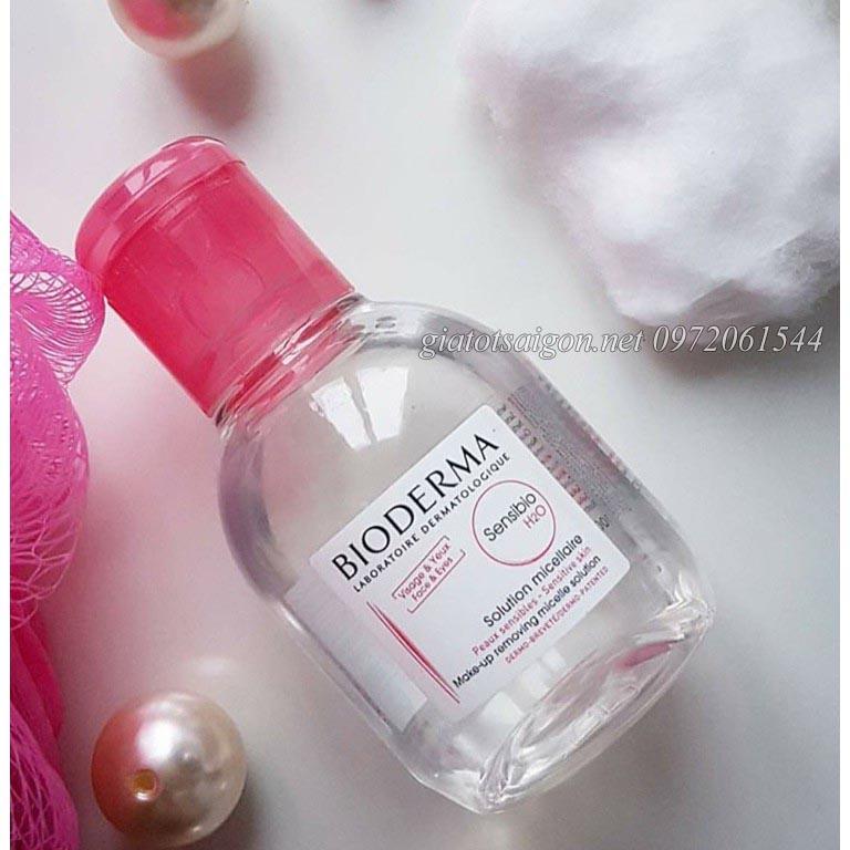 Nước tẩy trang Bioderma dành cho da nhạy cảm (Màu hồng)
